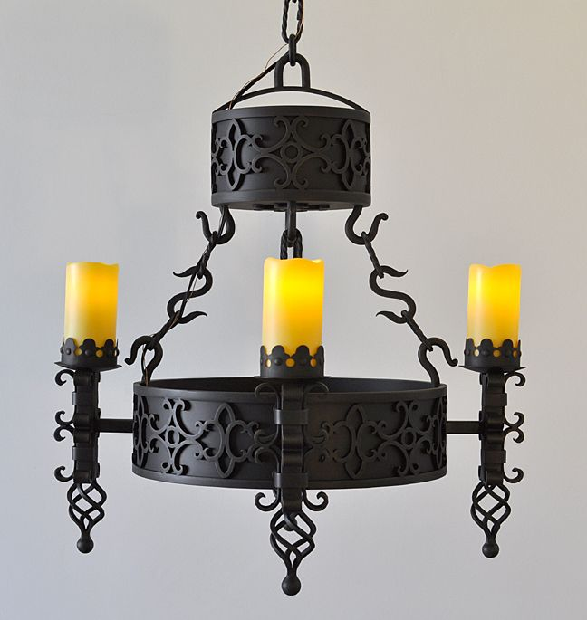 Gothic Style Iron Chandelier By Unique Lighting