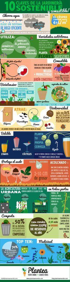 """10 claves de la jardinería sostenible. [Contacto]: ► www.nestorcarrarasrl.wordpress.com Néstor P. Carrara S.R.L """"Desde 1980 satisfaciendo a nuestros clientes"""""""