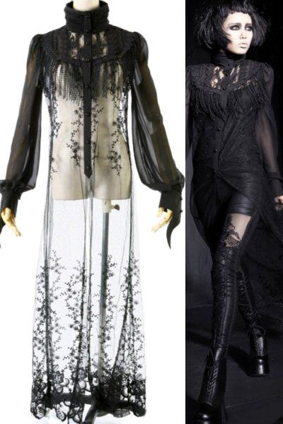 Mystic Shadows Gothic Jacket Top by Punk Rave