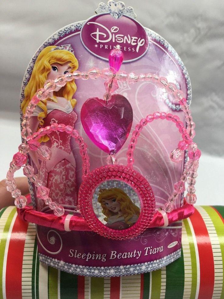 Disney PRINCESS AURORA Sleeping Beauty Costume Dress Up CROWN TIARA  E2 #DisneyStore #CrownTiara