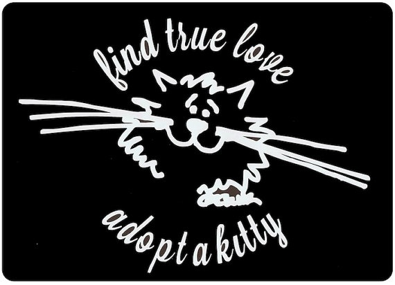 Rescue mom adopt a kitty vinyl decal find true love just for the