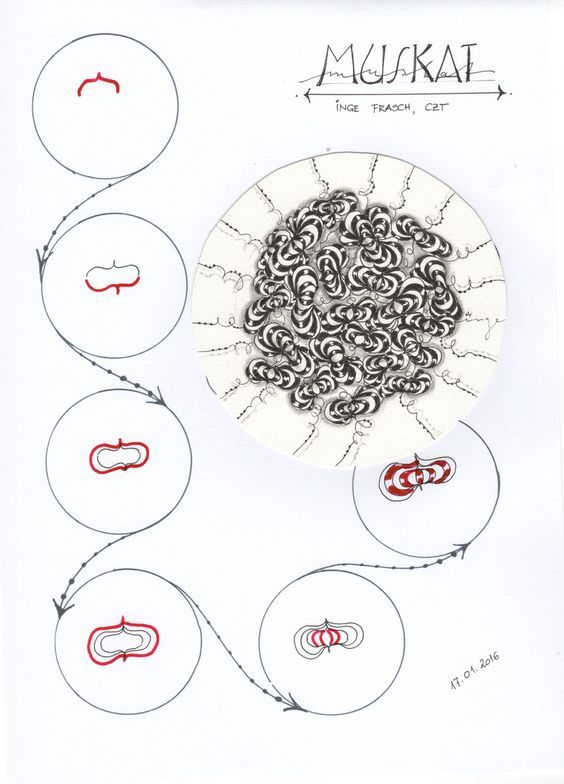 Tangles/Muster created by Inge - musterspiele.jimdo.com:
