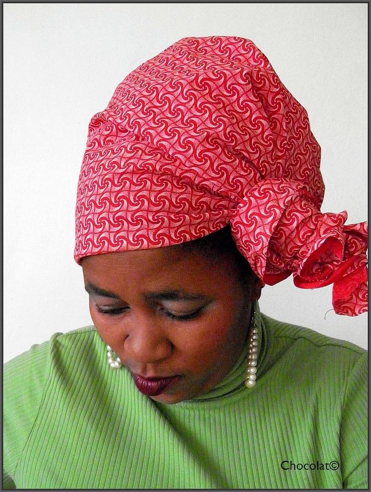 Wrap It In Cerise - Elegant Head Scraf / Wrap Or Turban made from traditional South African Shwe Shwe Fabric. $29.00, via Etsy.