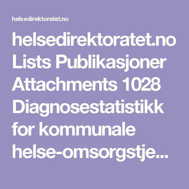 helsedirektoratet.no Lists Publikasjoner Attachments 1028 Diagnosestatistikk for kommunale helse-omsorgstjenester. Data fra IPLOS-registeret IS-0511.pdf