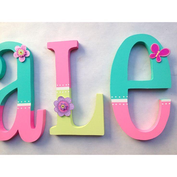 Nursery decor letters letras de madera para decorar on - Decorar paredes con letras ...