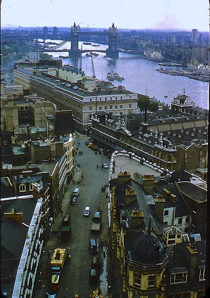 London in 1966, England by richwall100. I love the Mini on the street!