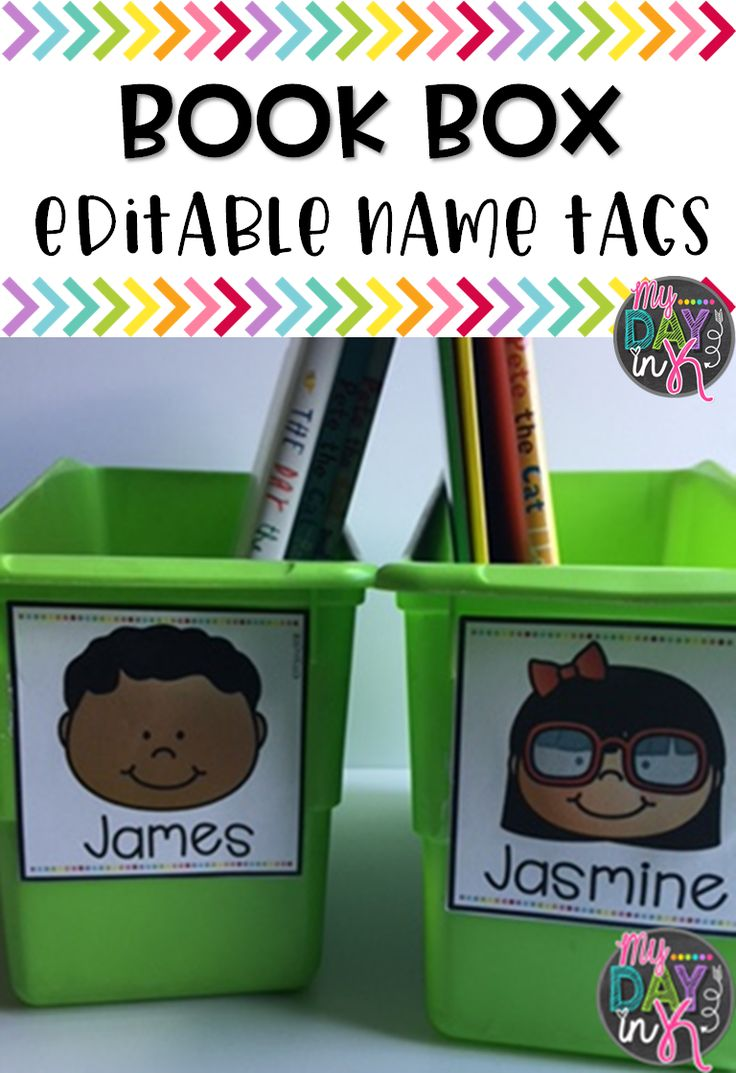 Personalize student book boxes by using these editable labels. Choose a face for each student and type their name or have your student choose their own face within the first few weeks of school!