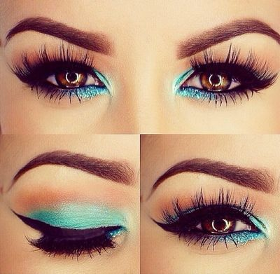 Gorgeous turquoise eyes on mua and bblogger Amrezy