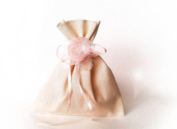Set da 20, nozze, Bomboniere Sposa di mussola, sacchetti regalo per goodies, sacchetto di tela da imballaggio grazie, mussola Bomboniere borse