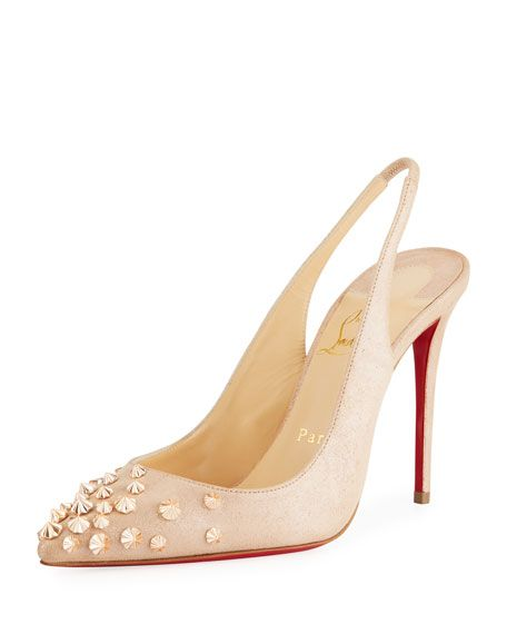 e6af2ec2d8d7 Drama Spike Red Sole Pumps by Christian Louboutin at Neiman Marcus ...