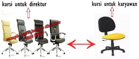 Perbedaan kursi kantor untuk Staff karyawan dan Direktur ? BIG BOS