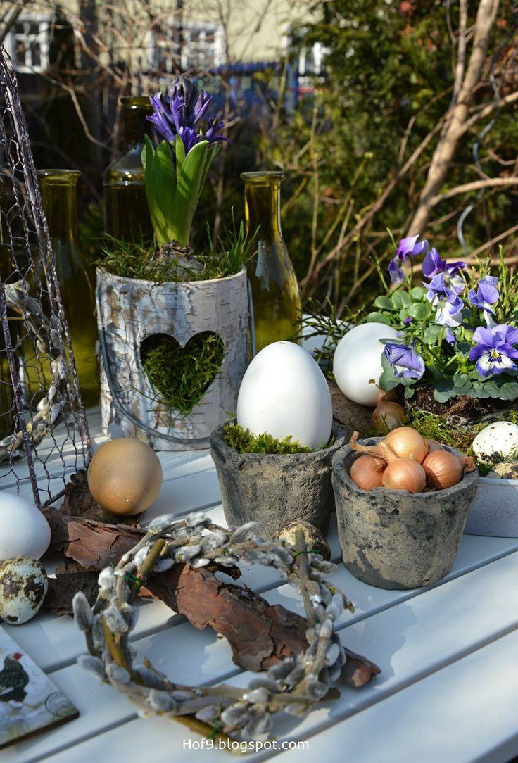 Osterdeko Garten osterdekoration im garten osterdeko im garten weidenkätzchenkranz osterkranz aus
