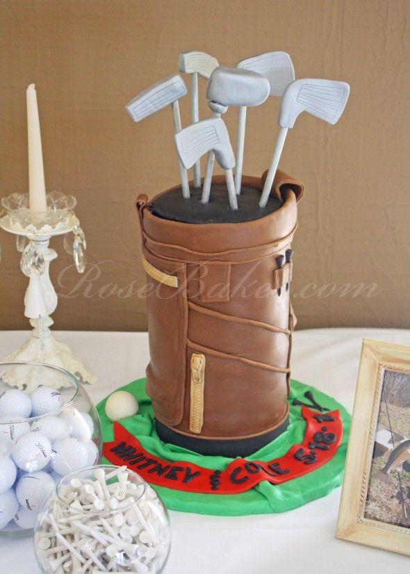 Golf Bag Groom's Cake… or for Father's Day!