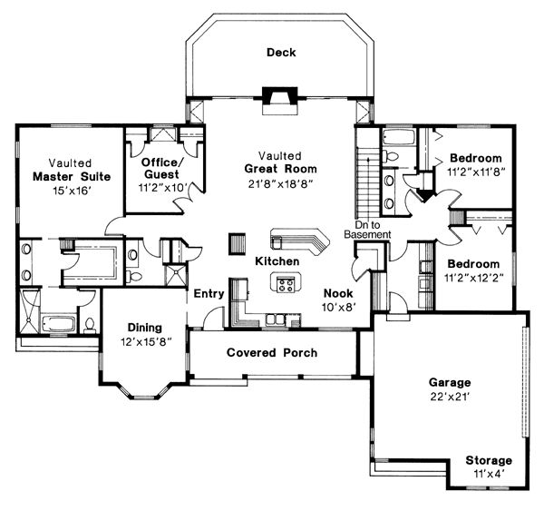 Ranch House Plan 69264 House Plans Pools And Mobile Mobile