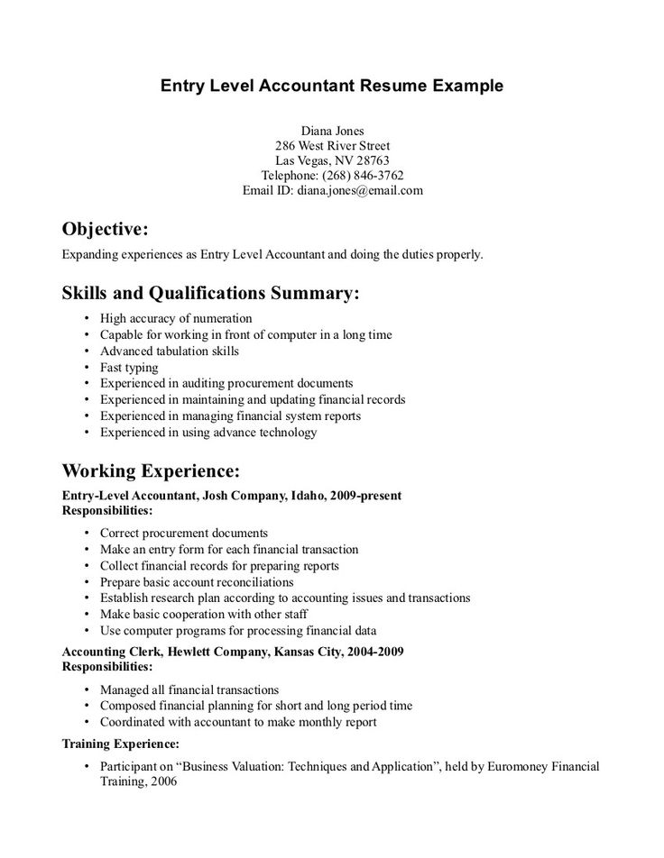 Bookkeeper Resume Entry Level - http://www.resumecareer.info/bookkeeper-resume-entry-level-3/