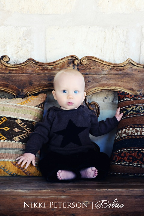 Baby Portraits - Antique Bench