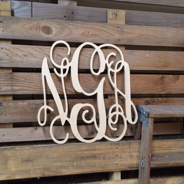 Wood Monogram Wall Decor 37 best wooden monograms images on pinterest | wooden monogram