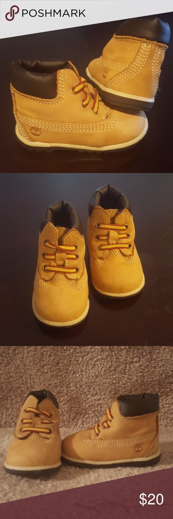 "Infant Timberland Wheat 6"" Hard Sole Bootie Size 1 Infant Timberland Wheat 6"" Hard Sole Bootie Size 1. No original box. Gently used. Timberland Shoes Boots"
