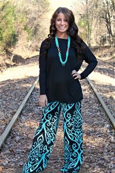 Midnight Moon Palazzo Pants $36.99 #SouthernFriedChics