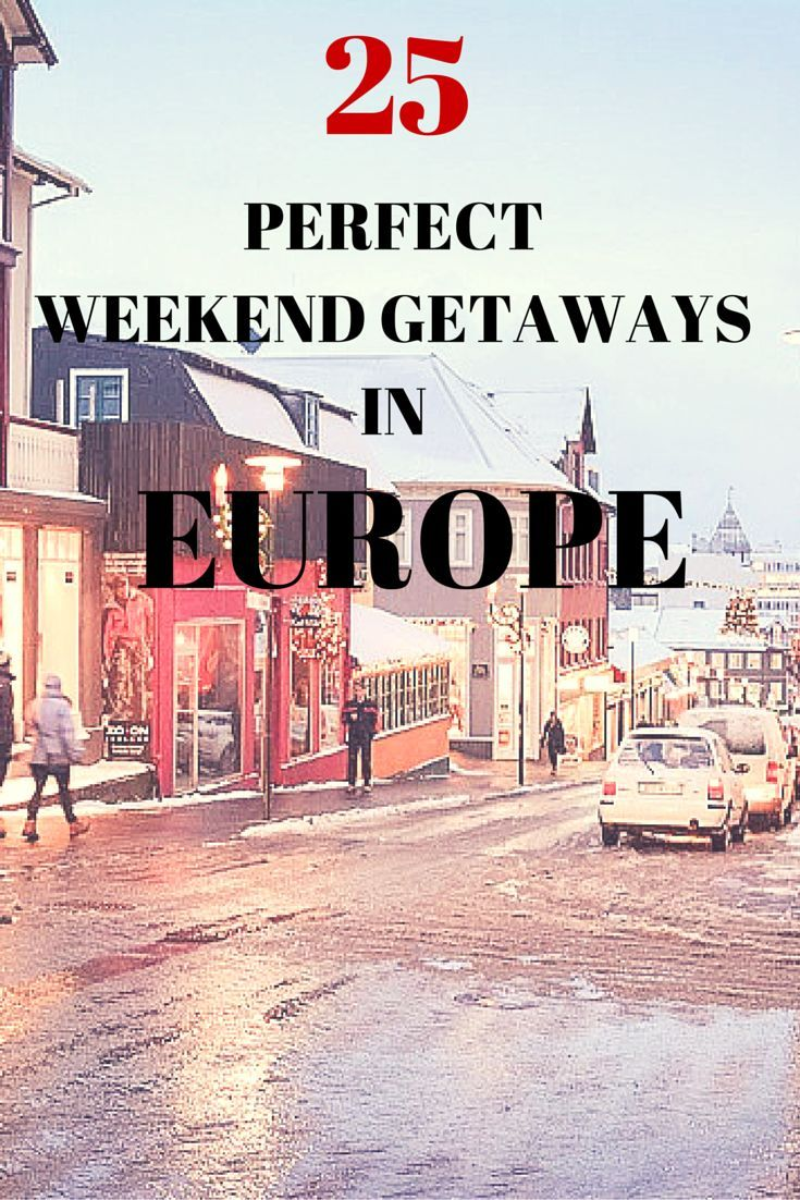 Europe is full of quaint, modern or alternative cities. There is something for every taste. Most of the destinations can be explored even just for a weekend. Check out these 25 weekend getaways suggestions from experienced travel bloggers and if you still haven't decided where to go next week, this is the inspiration you need.