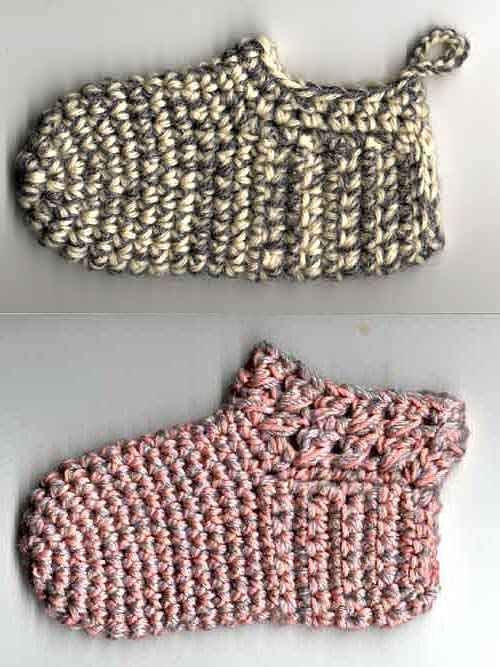 Adorable crocheted baby slippers. Site is in Swedish but converts nicely using Google Chrome. ¯\_(ツ)_/¯