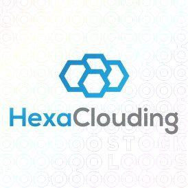 Exclusive Customizable Cloud Logo For Sale: Hexa Clouding   StockLogos.com