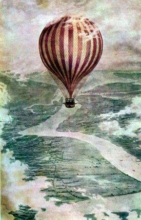 Resultado de imagen para dibujos de globos aerostaticos antiguos