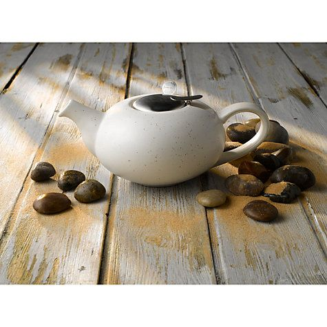 Buy London Pottery Speckled Pebble 2 Cup Teapot, White Online at johnlewis.com