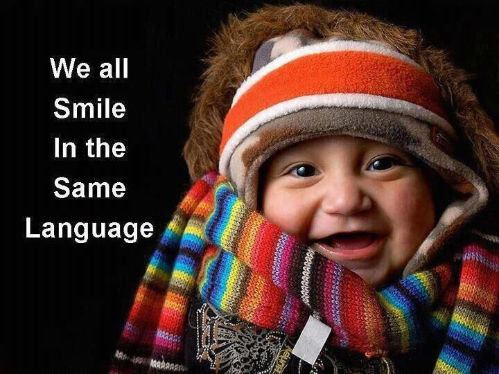 We all smile in the same language--good message for diversity lesson