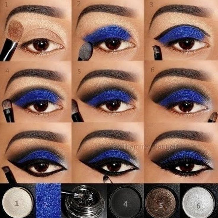 Step by Step Blue by Thamires R. Click the pic to see the products she used. #beauty #makeup #nightout
