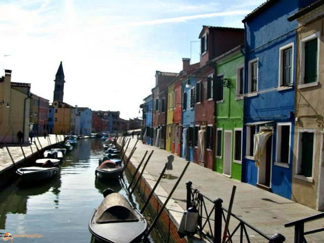 Case colorate di Burano