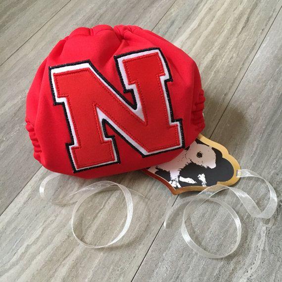 Nebraska Cornhuskers Football Cloth Diaper Cover or Pocket