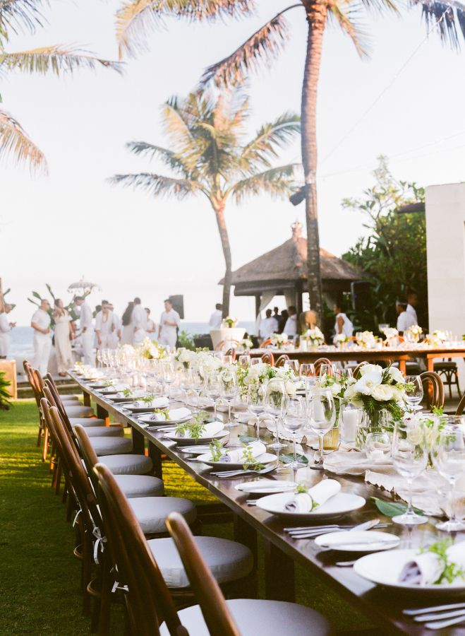 Elegant & tropical tablescape: http://www.stylemepretty.com/destination-weddings/2015/09/16/romantic-elegant-bali-wedding/ | Photography: Blush Photography - http://blushphotography.ca/