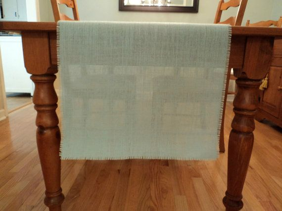 Mint Burlap Table Runner Mint Wedding Decor Seafoam Table Runners Mint Blue Green Table Decorations