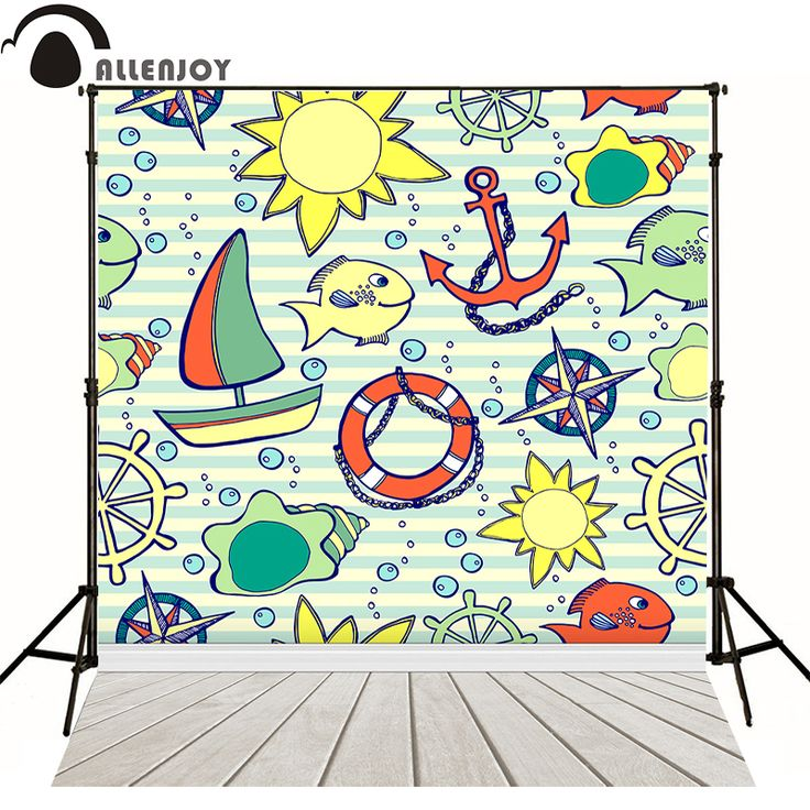 >> Click to Buy << ALLEN JOY photographic background Cartoon wooden mosaic ocean backdrop photography Without stand #Affiliate