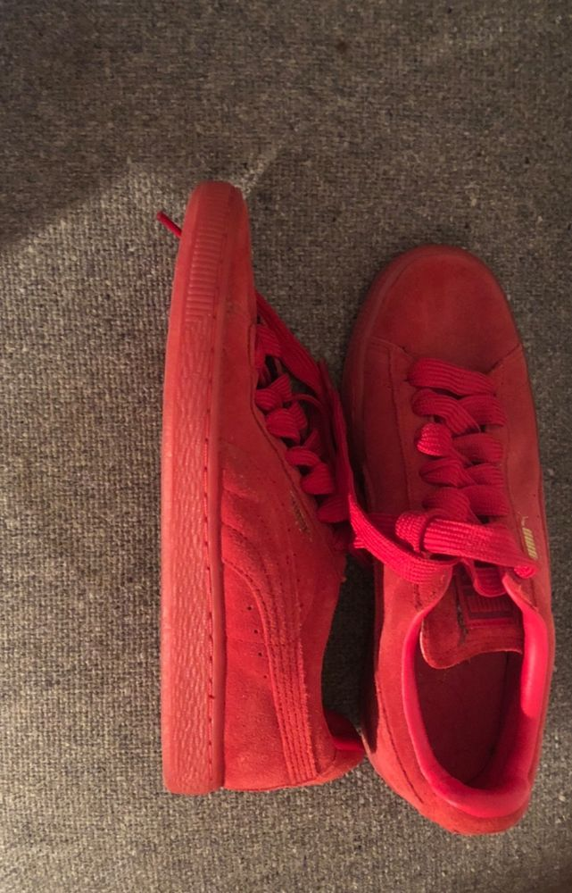 Unisex Red Puma Suede Classic Sneakers (US Adult Sz 6  EUR Sz 38)  fashion   clothing  shoes  accessories  womensshoes  athleticshoes (ebay link) 0982159daa
