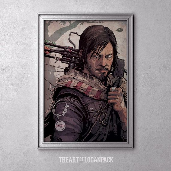 THE OUTLAW  Daryl Dixon art from The Walking by ARTofLOGANPACK, $19.95