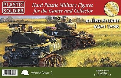 Plastic soldier company - world war 2 #allied #stuart m5a1 #tanks (3) (1/72 scale,  View more on the LINK: http://www.zeppy.io/product/gb/2/201784995040/