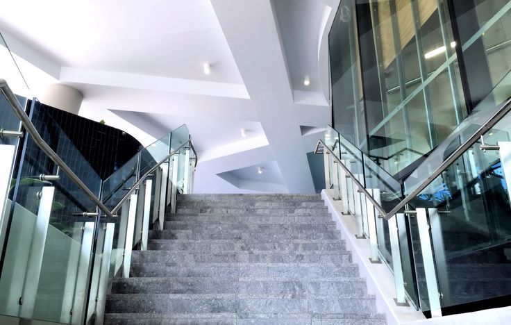 Thump X1 Series Frameless Glass #StairBalustrade on Southpoint Building: Flight Centre AU HQ for Watpac