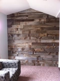 Barn Wood Wall, may have to find a place in our home.