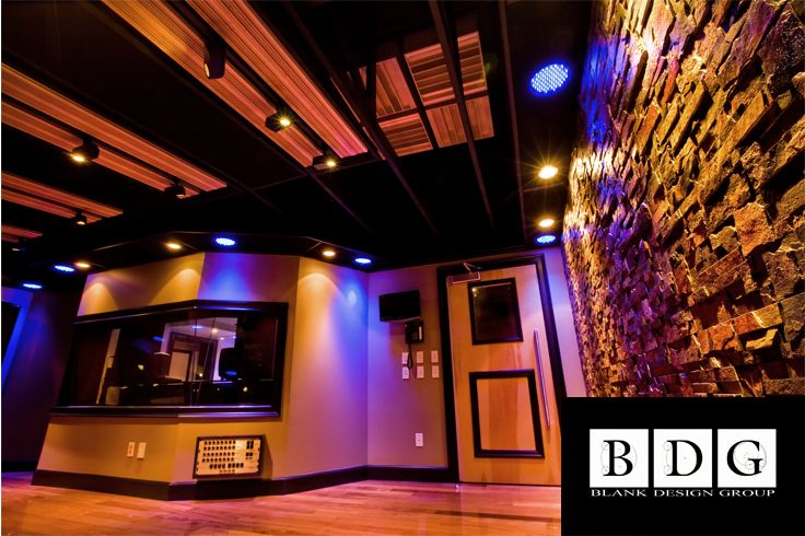 Vanquish recording studio davies fl live room featuring custom acoustical clouds with rpg for Recording studio live room design