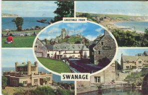 Unknown Postcard , Greetings from Swanage (Multiview) PLC2128