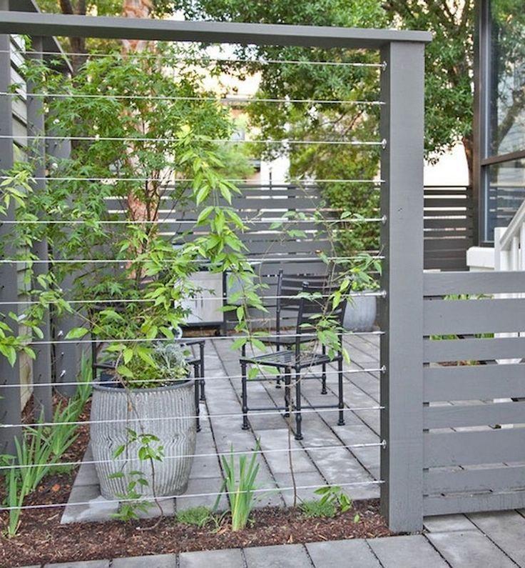 64+ Amazing Privacy Fence für Patio & Hinterhof Landschaftsbau Ideen #amazing