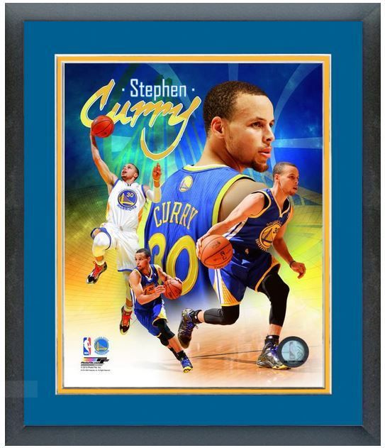 "Stephen Curry 2014 Golden State Warriors-11"" x 14"" Framed/Matted ""Photo Montage"""