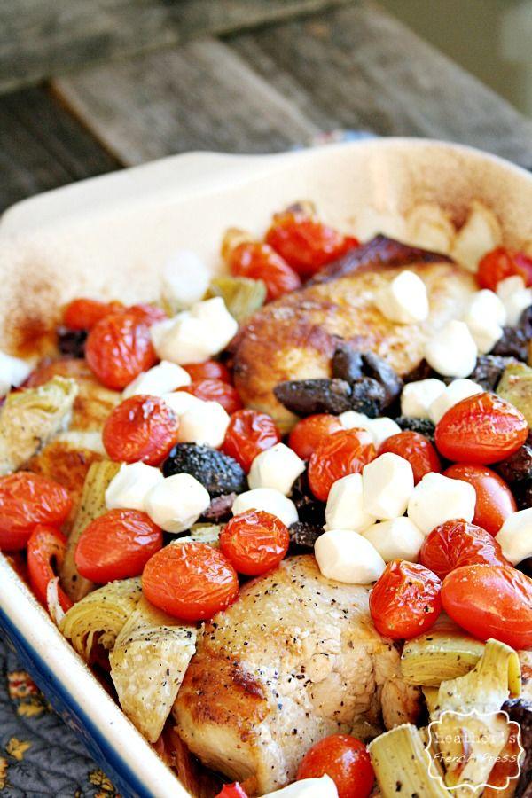 easy dinner | healthy baked Mediterranean Chicken