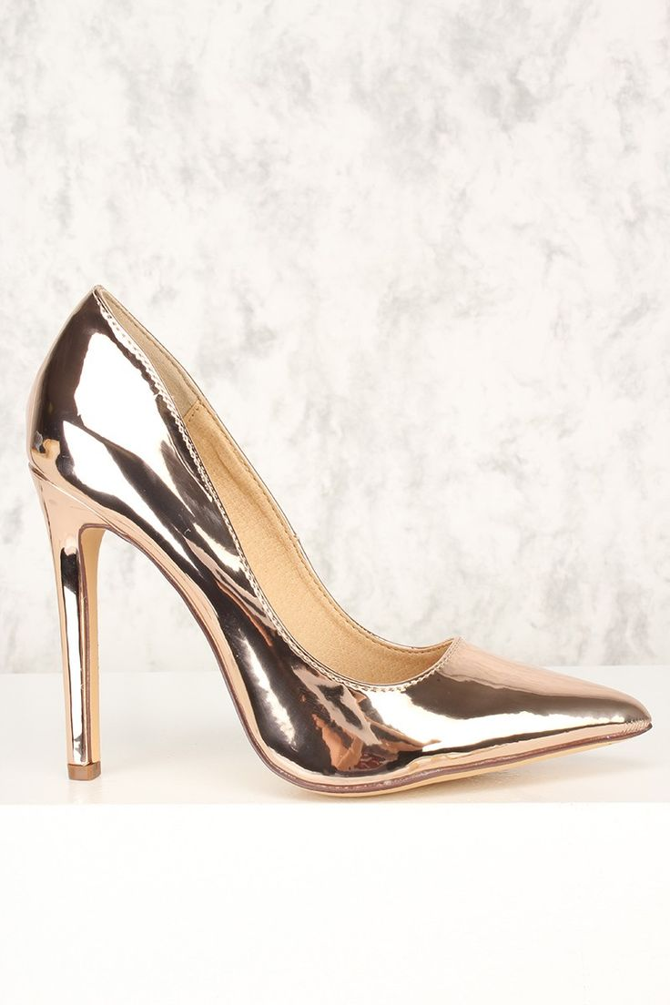 These sexy and stylish single sole pump high heels are a must have this season! The features include a nubuck faux leather upper with a pointed closed toe, scoop vamp, smooth lining, and cushioned footbed. Approximately 4 1/2 inch heels.