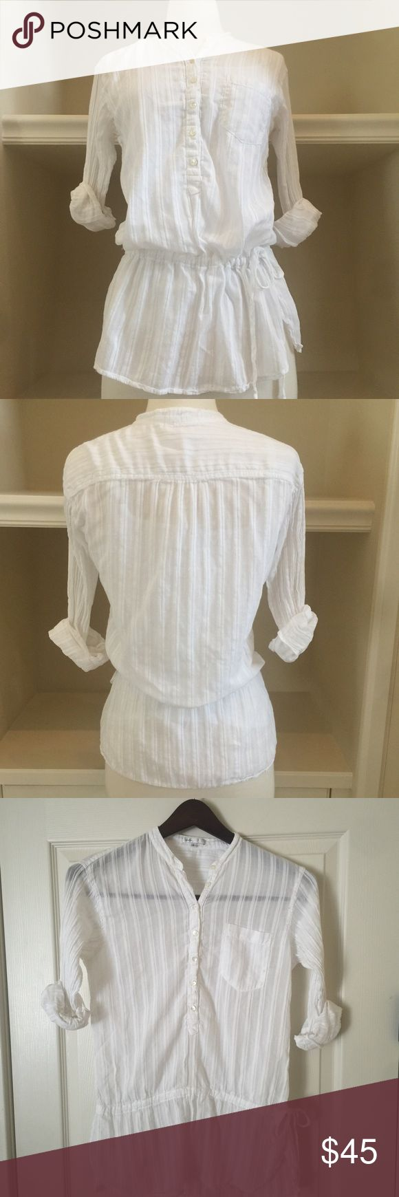 Vince white tunic top size small Vince white tunic top size small. In great used condition. Vince Tops Tunics