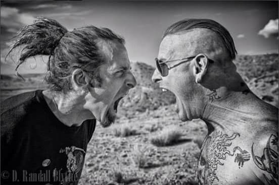 Corey Taylor and Randy Blythe
