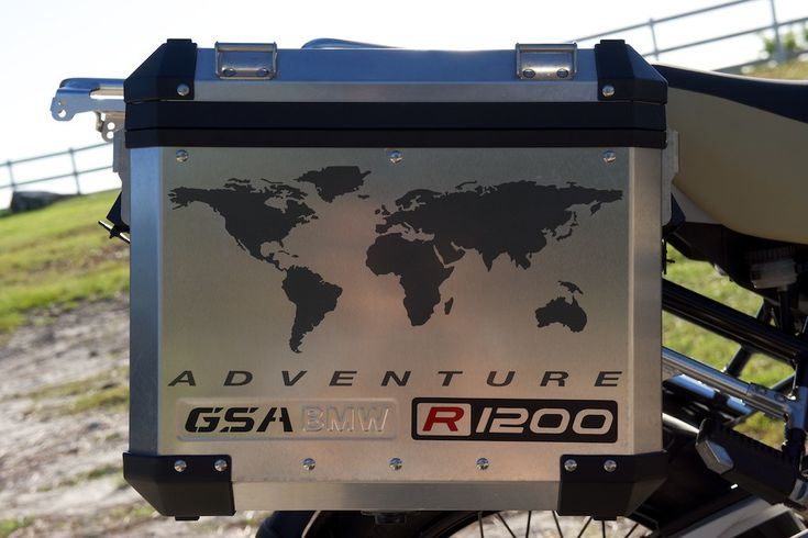 """BMW GS Motorcycle Decal Kit """"R1200 World Adventure Map"""" for Touratech Panniers"""