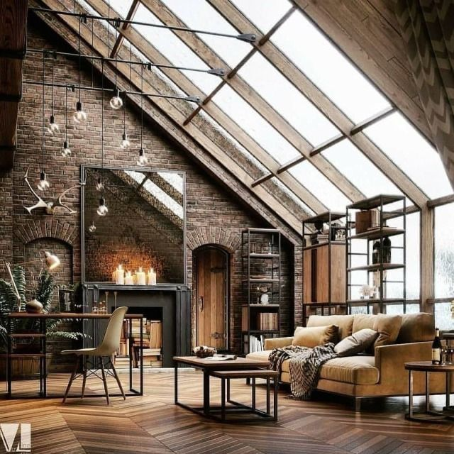 Rustic Living Room Urban Loft House Design Home Decor Outlet